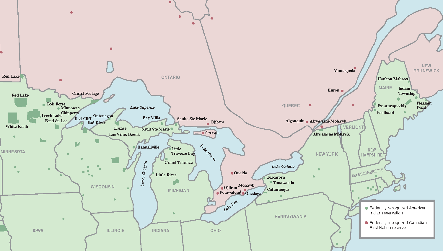 The Borderline Indigenous Communities On The International Frontier - Us canada border crossings map