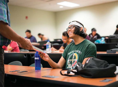 As students become more Confident in the subject matter, they become more confident in their ability to make change in their community. Photo courtesy of Jason Ordaz/ IAIA