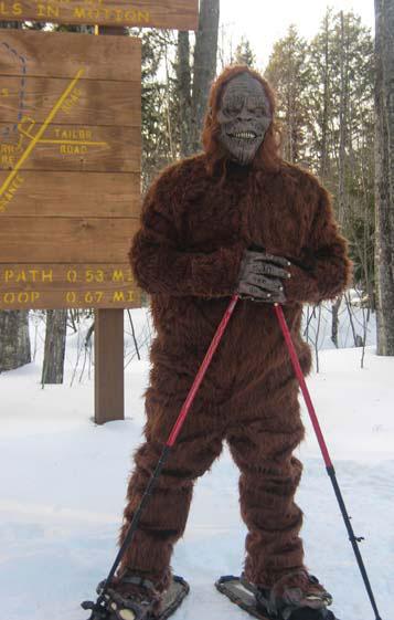 Sasquatch hits the trails near KBOCC. Photo by Bill Wyman