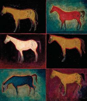 Purple Sage Ponies by Kevin Red Star