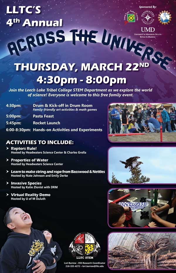 LEECH LAKE TRIBAL COLLEGE 4TH ANNUAL ACROSS THE UNIVERSE