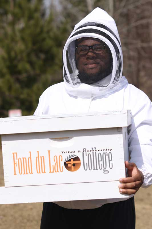 BEEKEEPER AT FOND DU LAC TRIBAL AND COMMUNITY COLLEGE