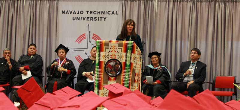 CARRIE BILLY DELIVERS COMMENCEMENT ADDRESS AT NAVAJO TECHNICAL UNIVERSITY