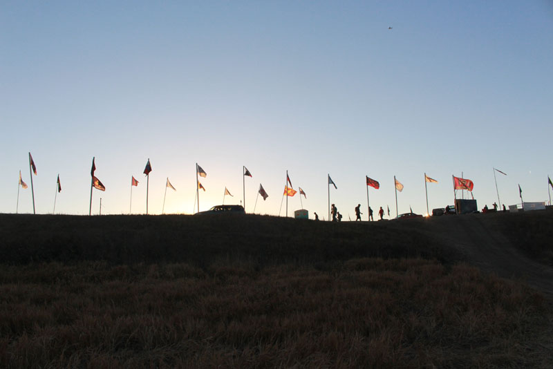 FLAG ON THE HORIZON AT CAMP OECTI SAKOWIN