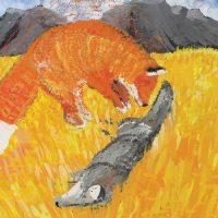 Fox Saves Coyote by Quinton Decker of Salish Kootenai College