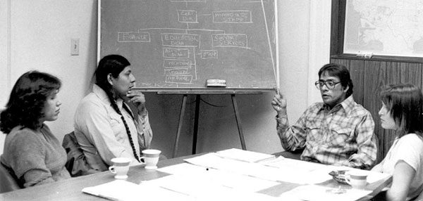 DAVID GIPP WITH UTTC STUDENTS AROUND 1980