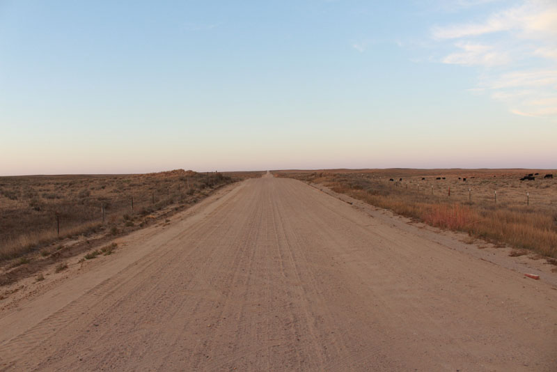 LONG STRAIGHT ROAD TO NORTH DAKOTA