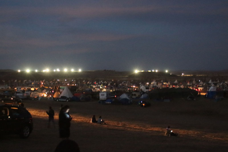 NIGHTTIME VIEW OF CAMP OCETI SAKOWIN