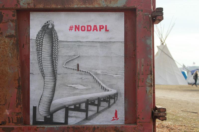 NO DAPL SNAKE SIGN