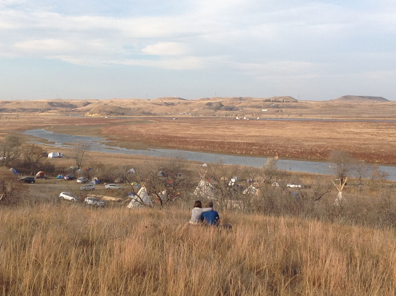 THE CAMP AT OCETI SAKOWIN IN AUTUMN