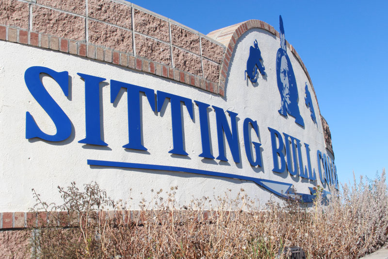 SITTING BULL COLLEGE SIGN