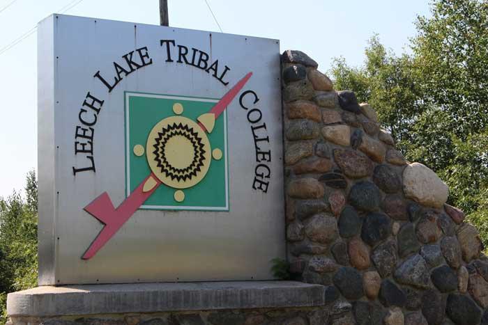 LEECH LAKE TRIBAL COLLEGE SIGN
